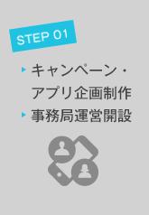 STEP01 キャンペーン・アプリ企画制作&事務局運営開設